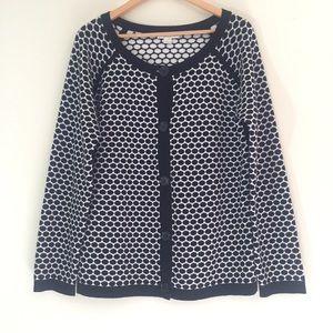 Pendleton Black & White Pattern Cardigan {Size L}